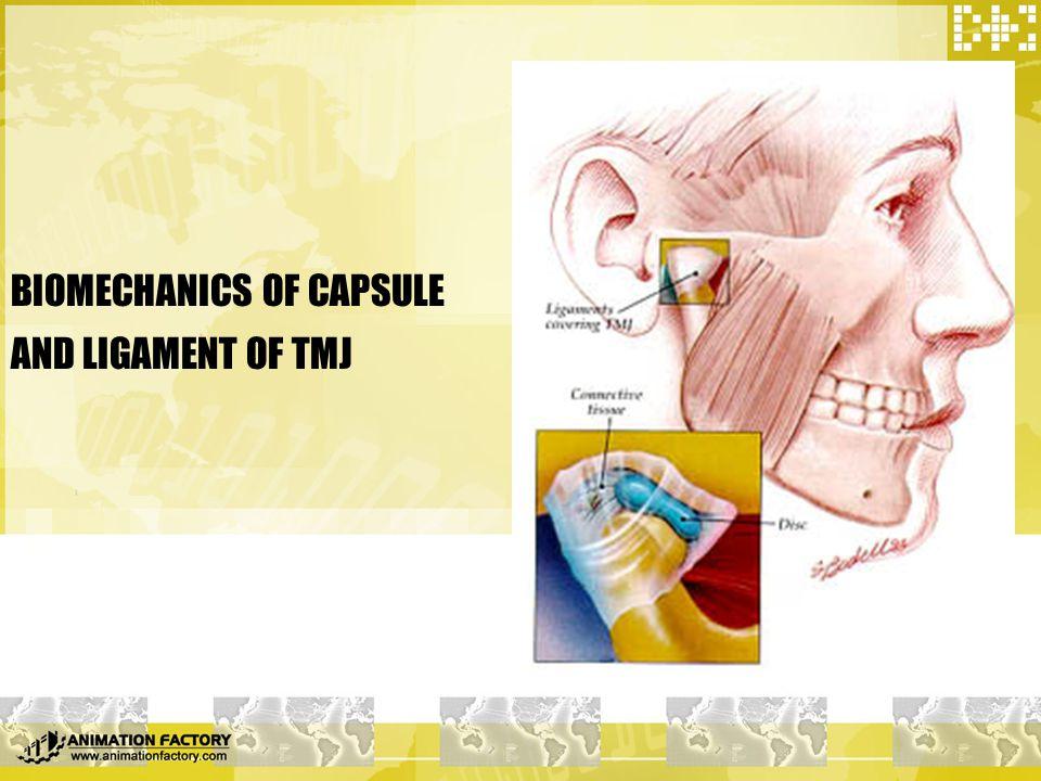 BIOMECHANICS OF CAPSULE AND LIGAMENT OF TMJ
