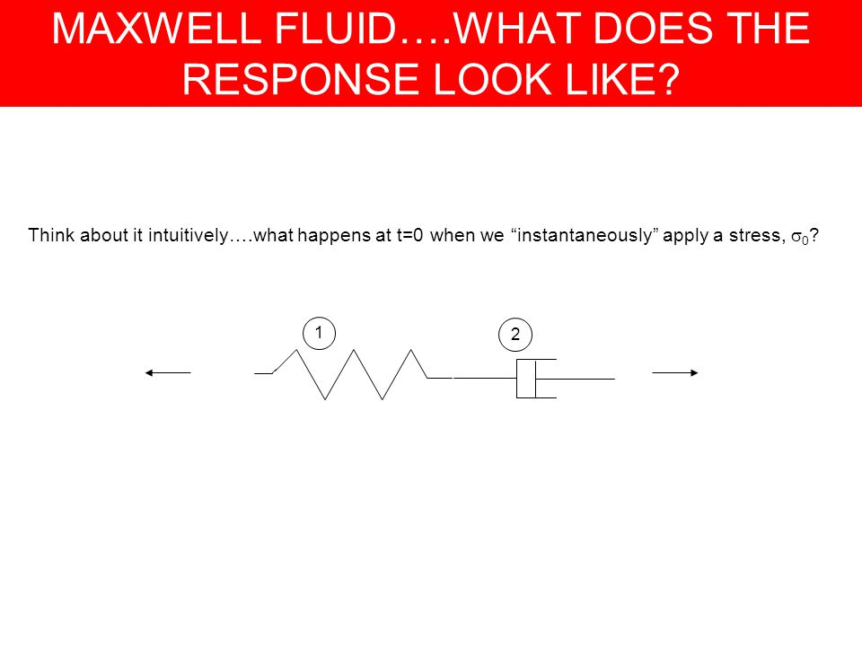 MAXWELL FLUID….WHAT DOES THE RESPONSE LOOK LIKE.