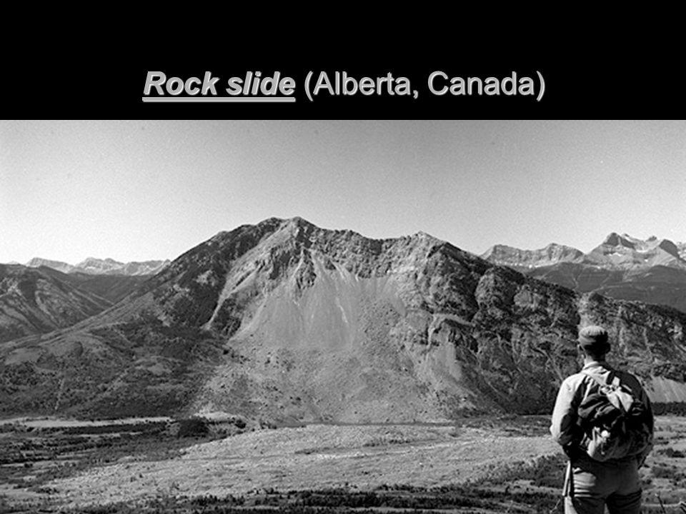 Rock slide (Alberta, Canada)
