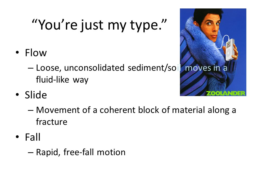 Types of Mass Wasting