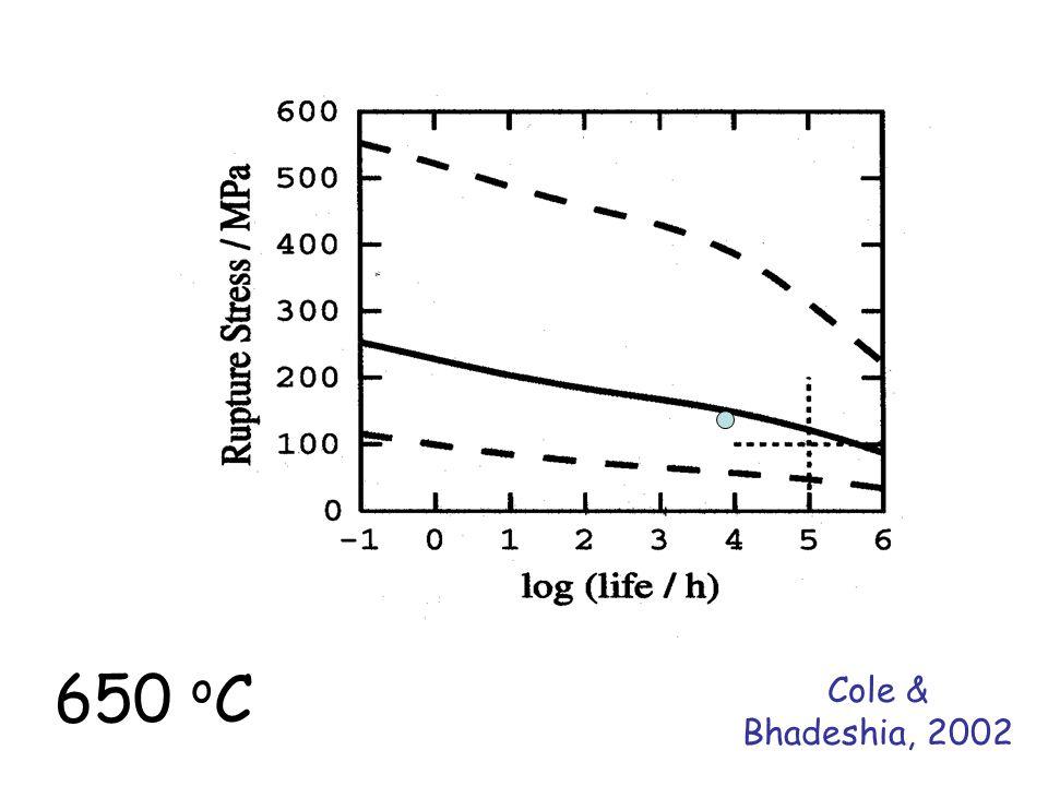 Cole & Bhadeshia, 2002 650 o C