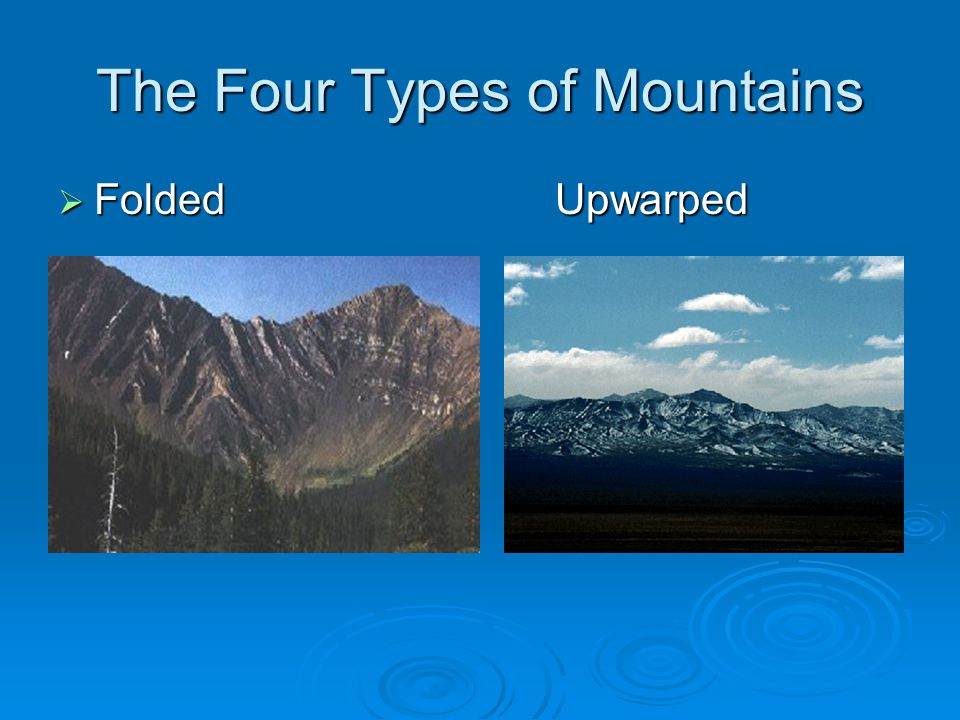 The Four Types of Mountains  Folded Upwarped