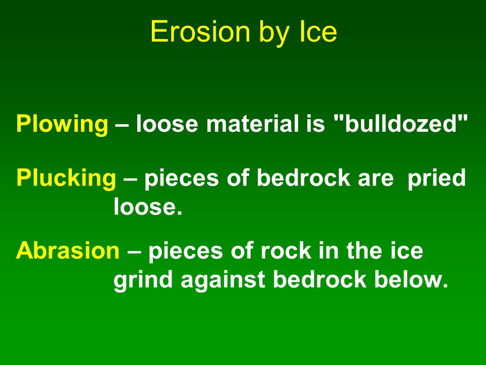 Erosion by Ice Plowing – loose material is