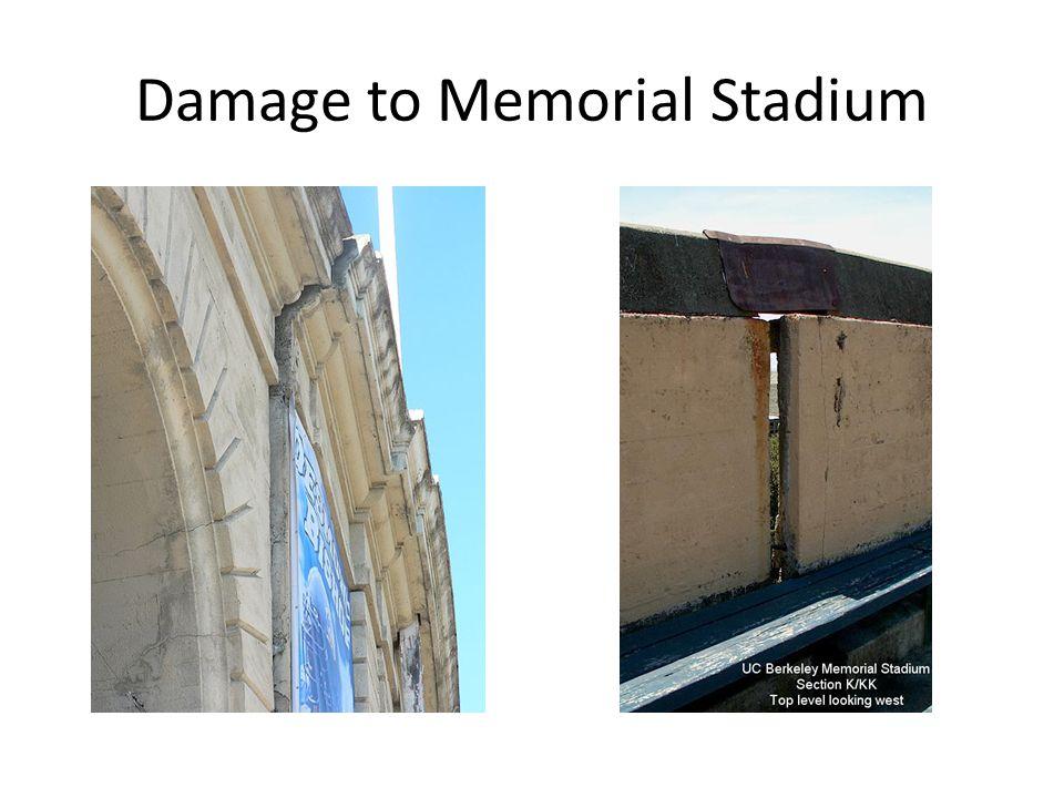 Damage to Memorial Stadium