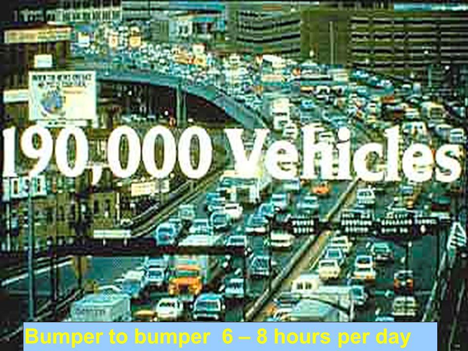 Bumper to bumper 6 – 8 hours per day