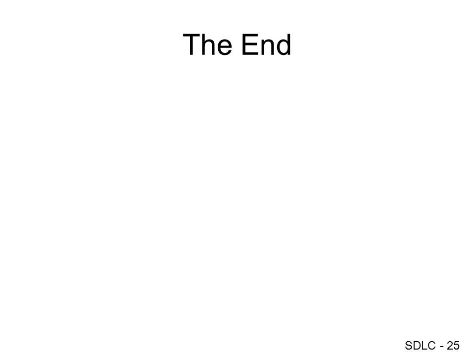 SDLC - 25 The End