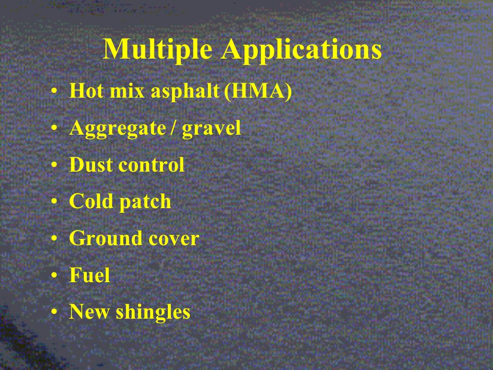Factors Affecting HMA Performance Aggregate gradation of RAS Properties of final blended binder content within the HMA as affected by: –RAS asphalt binder –Virgin binder