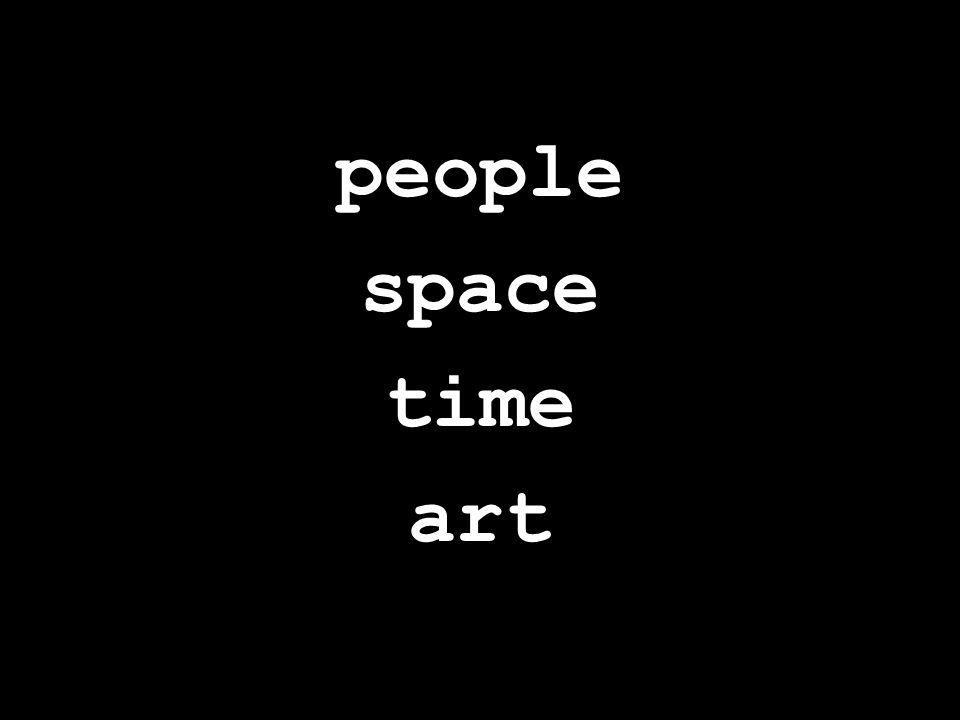people space time art