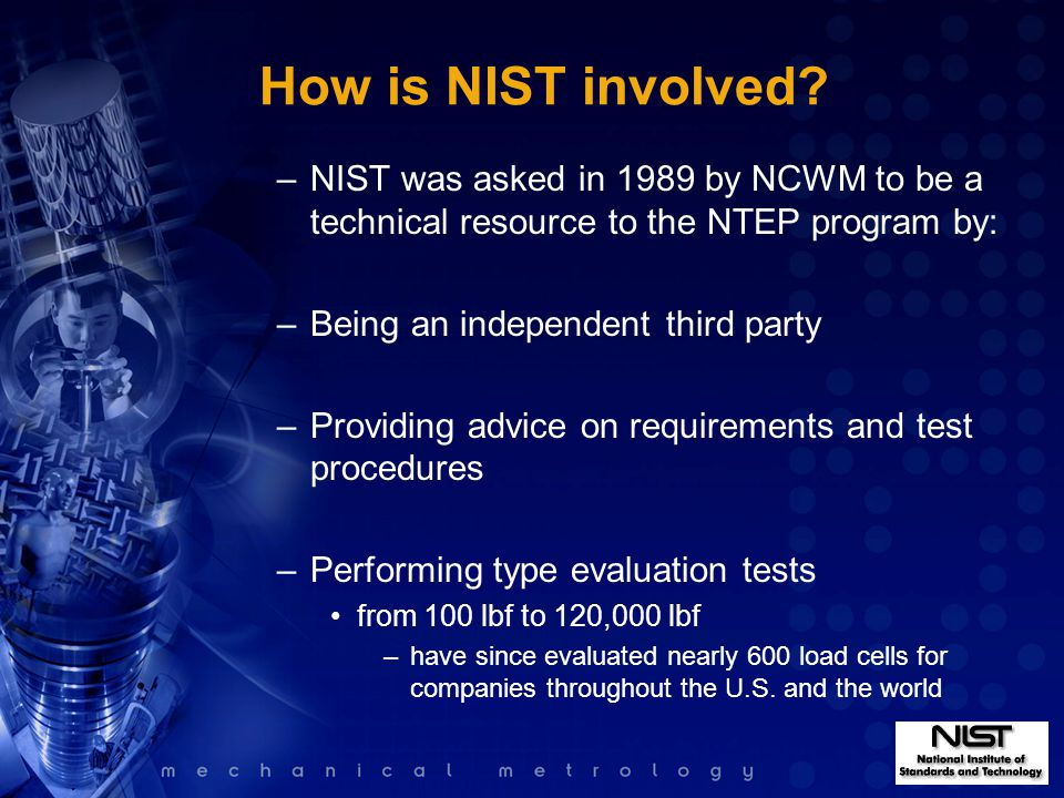 How is NIST involved.