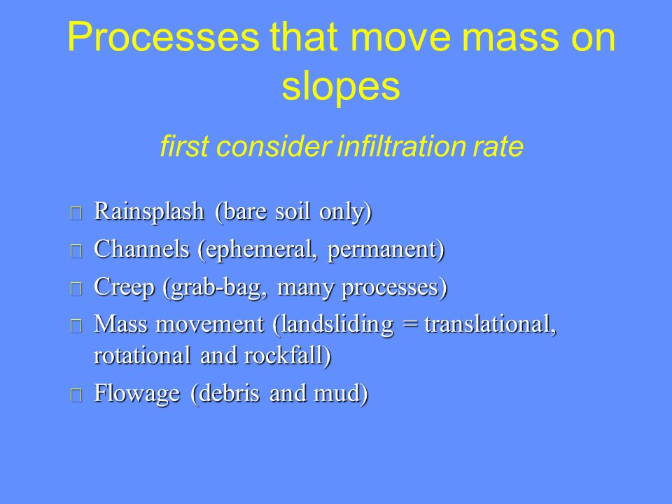 Slope types – connect to process
