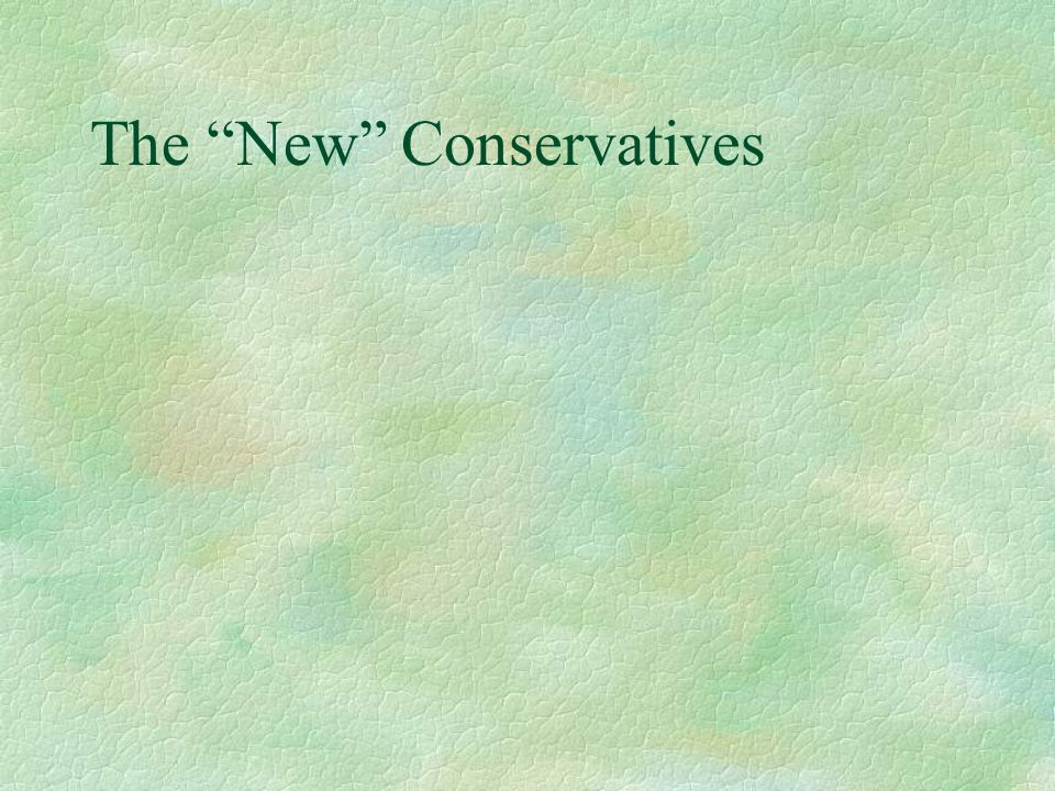 The New Conservatives
