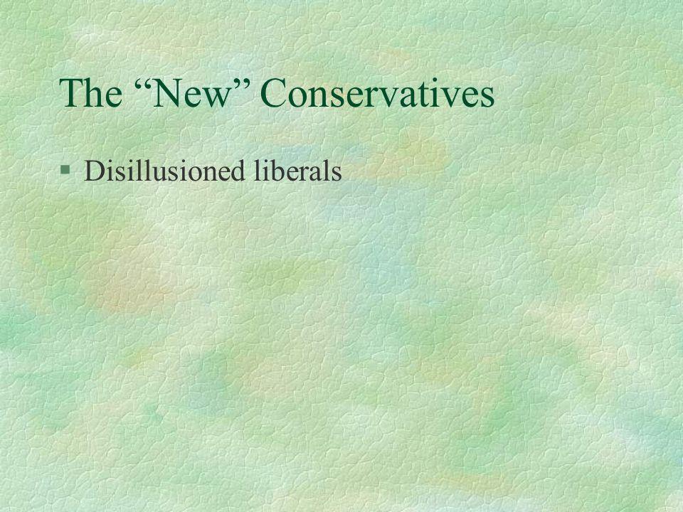§Disillusioned liberals