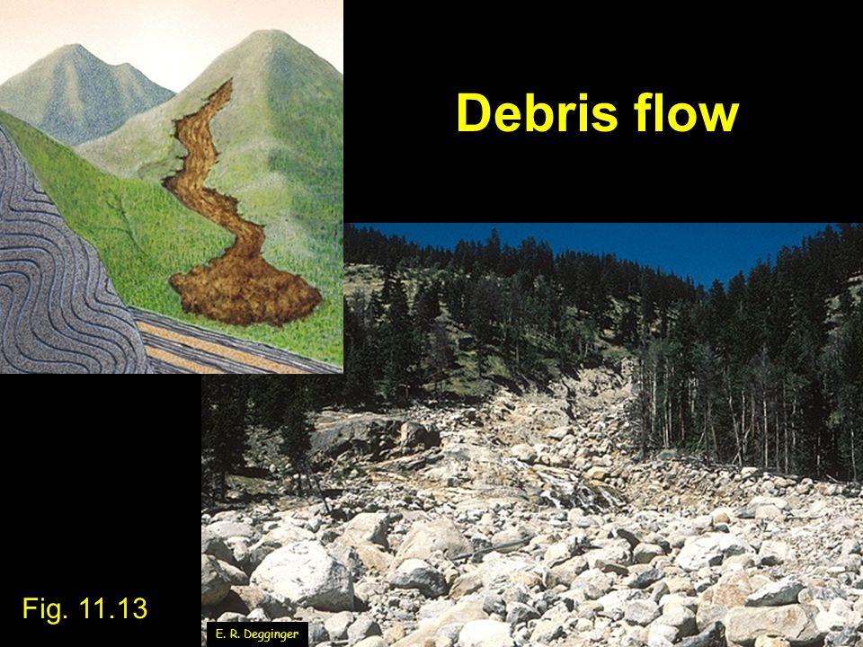 Debris flow Fig. 11.13 E. R. Degginger