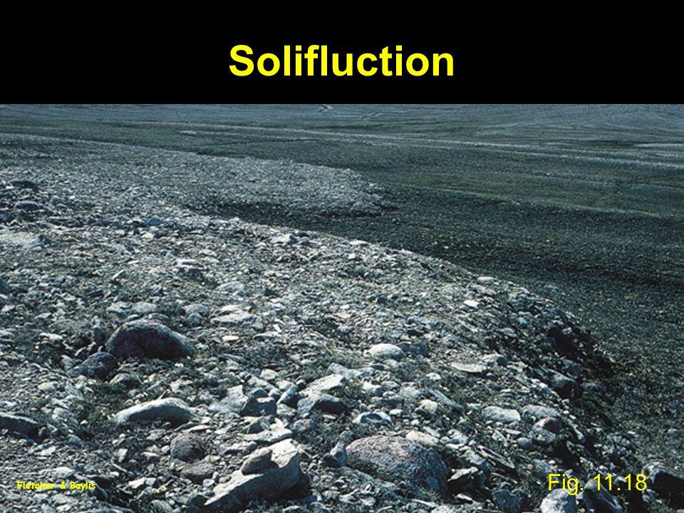Solifluction Fig. 11.18 Fletcher & Baylis