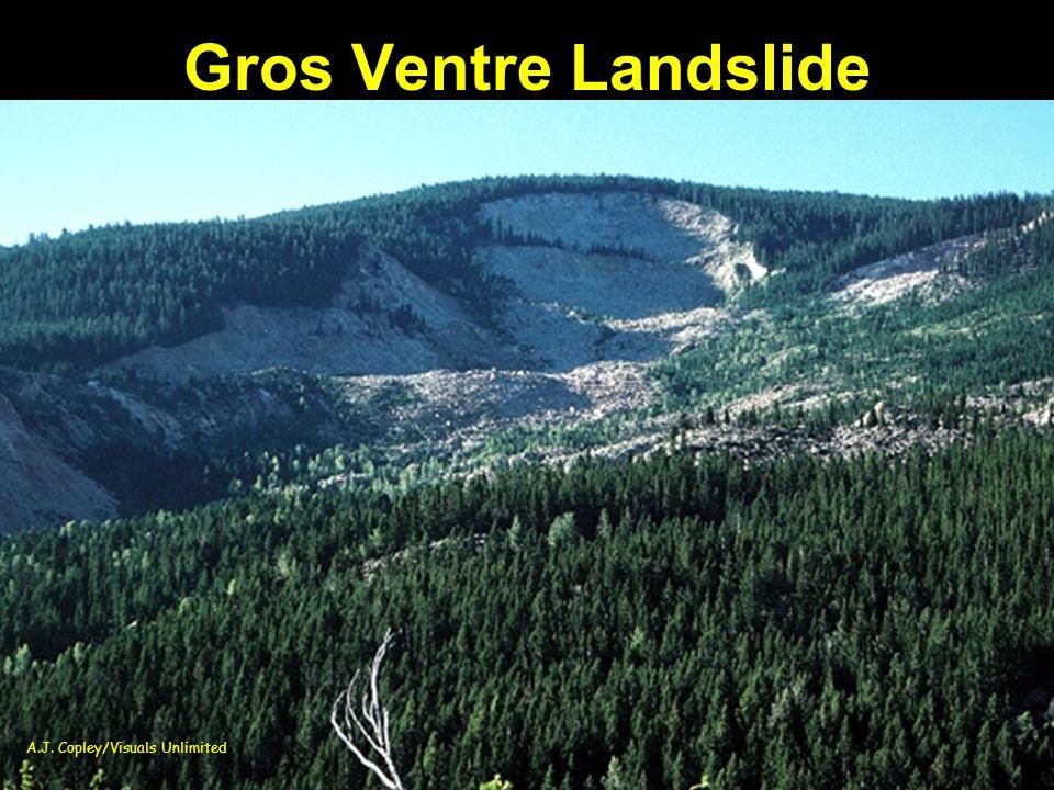 Gros Ventre Landslide A.J. Copley/Visuals Unlimited