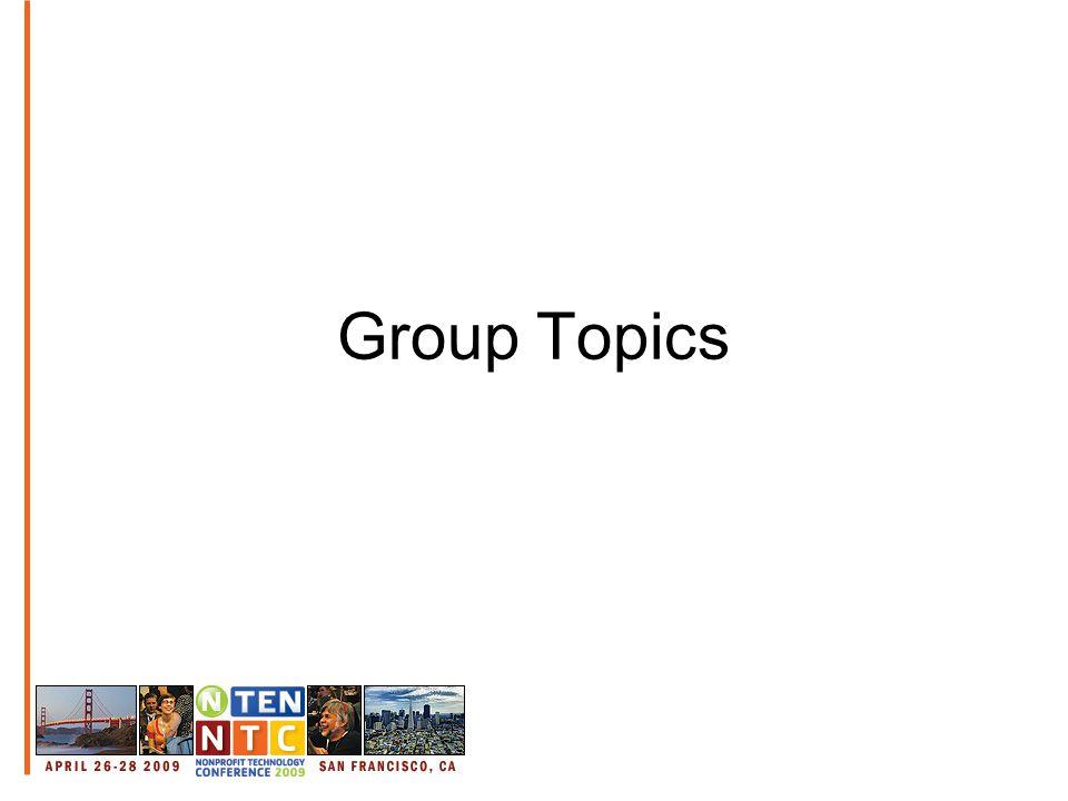 Group Topics