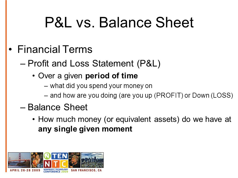 P&L vs.