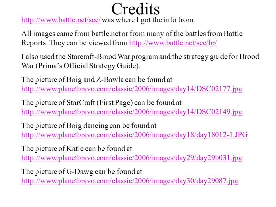 Credits http://www.battle.net/scc/http://www.battle.net/scc/ was where I got the info from.