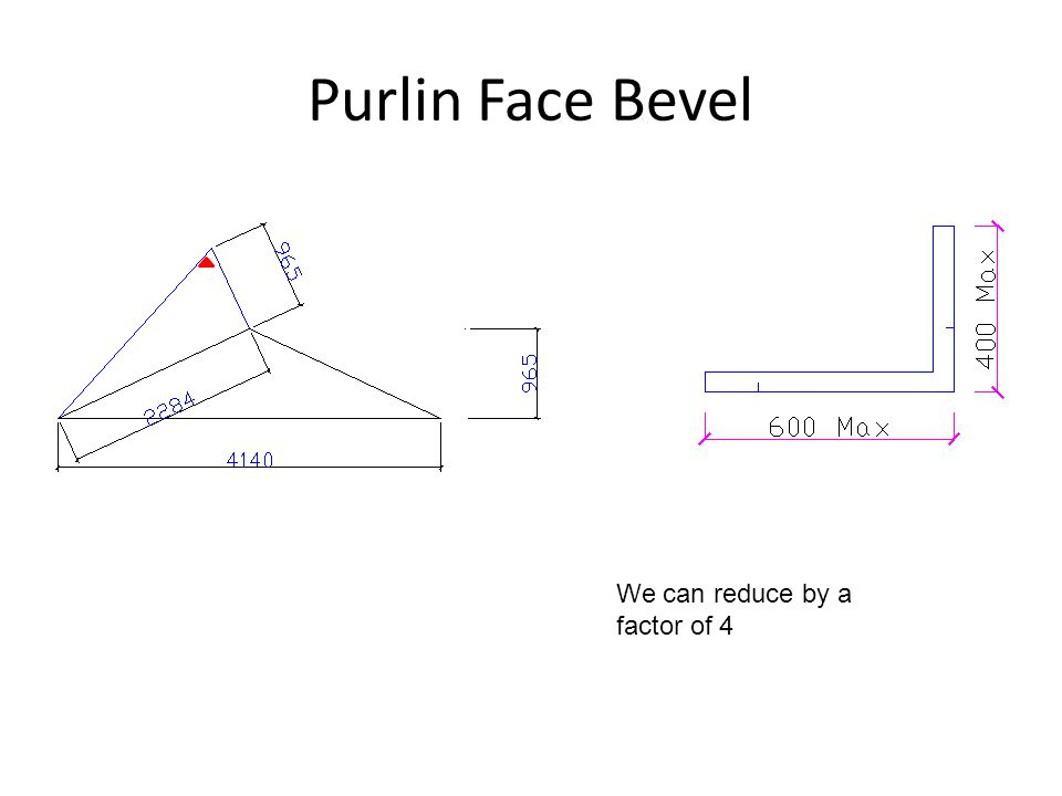 Purlin Face Bevel We can reduce by a factor of 4