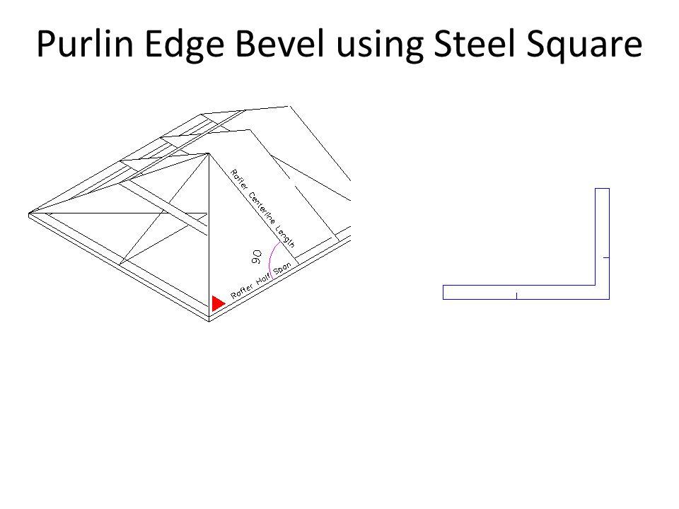 Purlin Edge Bevel using Steel Square
