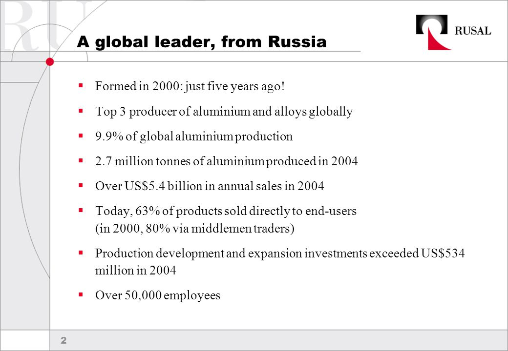 13 Attaining aluminium growth  Greenfield projects should account for 81% of the growth  Khakassky shown as the only brownfield – 13% of growth  All smelters should add 4% to capacity through creep  Current plan assumes only 9% of growth outside Russian Federation 2.3 mt of aluminium capacity added by 2013