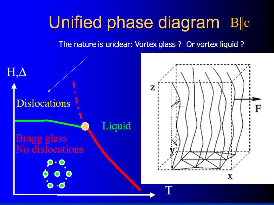 The nature is unclear: Vortex glass Or vortex liquid B||c