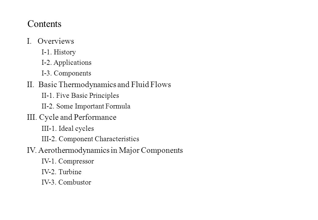 Contents (Continued) V.Structure & Dynamics V-1. Blade Vibration V-2.