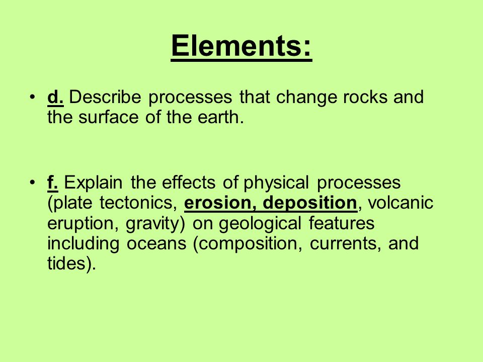 Ways rocks are chemically weathered Natural Acids: water mixes with carbon dioxide gas in the air or soil and forms a weak acid called carbonic acid.