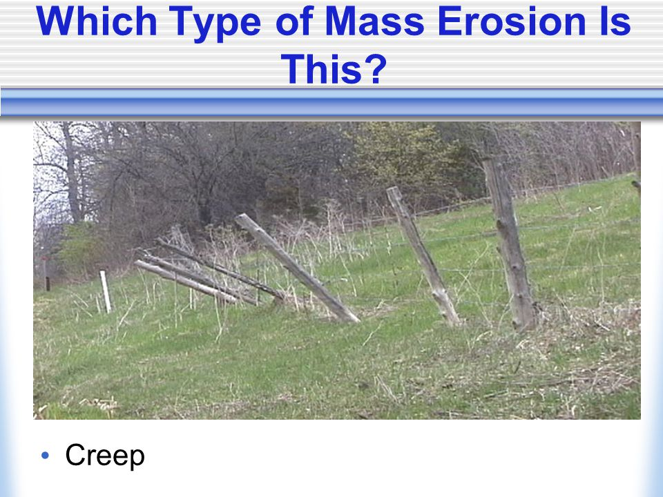 Which Type of Mass Erosion Is This Creep
