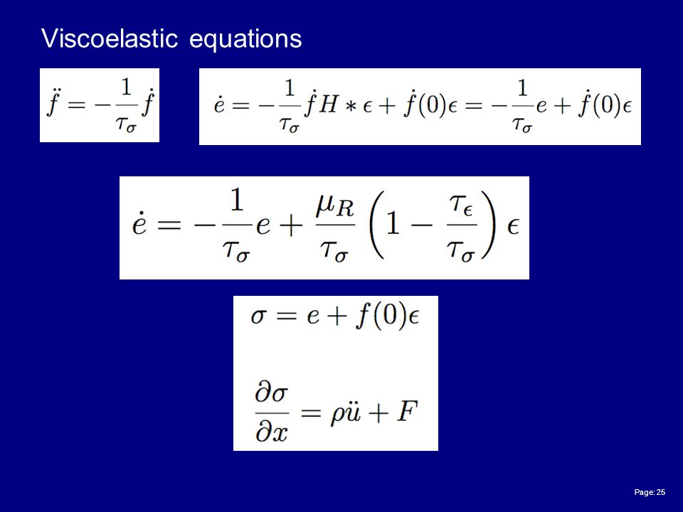 Page: 25 Viscoelastic equations