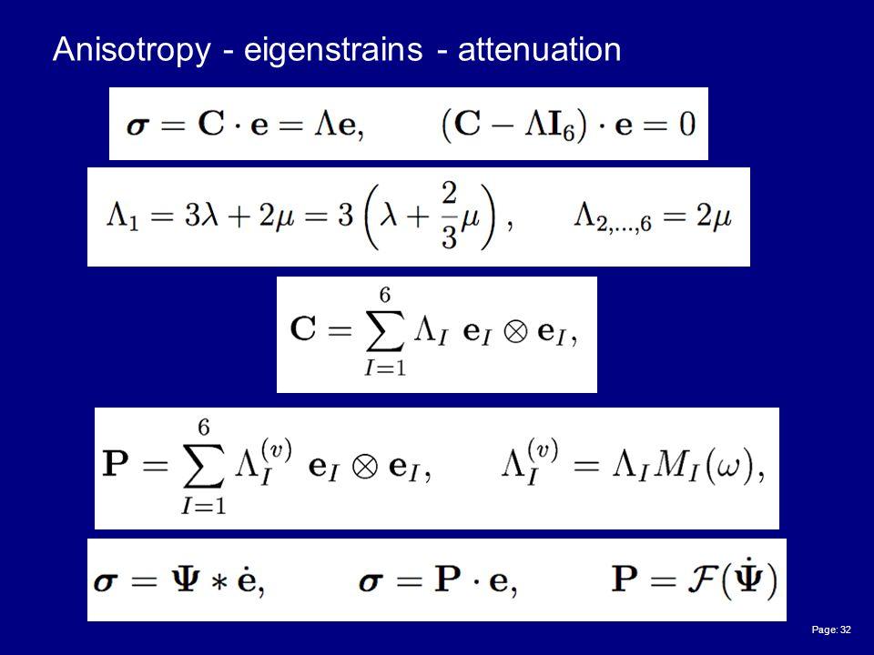 Page: 32 Anisotropy - eigenstrains - attenuation