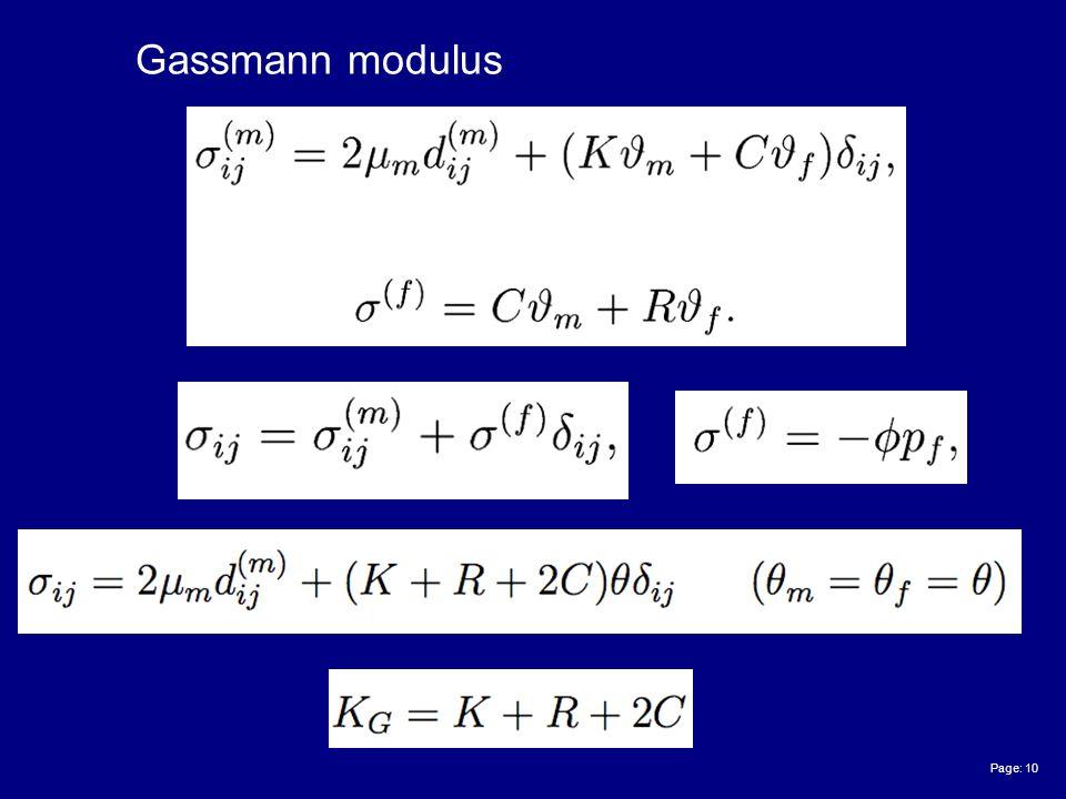 Page: 10 Gassmann modulus