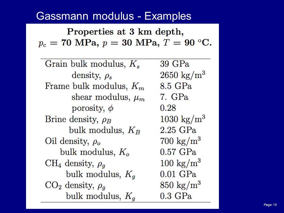 Page: 13 Gassmann modulus - Examples