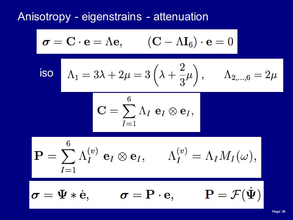 Page: 36 Anisotropy - eigenstrains - attenuation iso