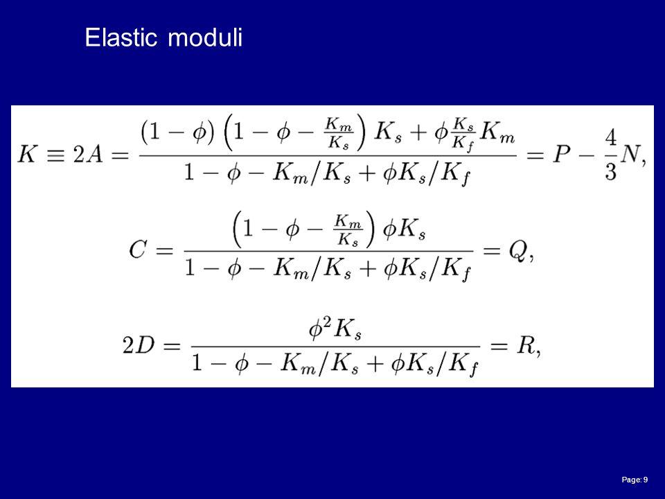 Page: 9 Elastic moduli