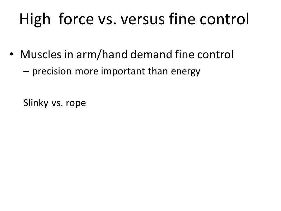 High force vs.