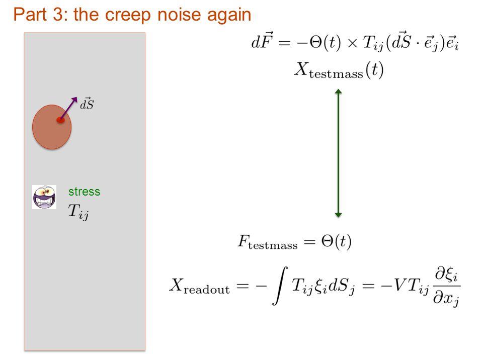 stress Part 3: the creep noise again