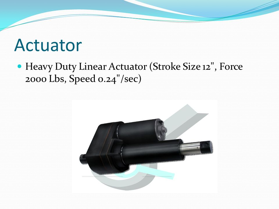 Actuator Heavy Duty Linear Actuator (Stroke Size 12 , Force 2000 Lbs, Speed 0.24 /sec)