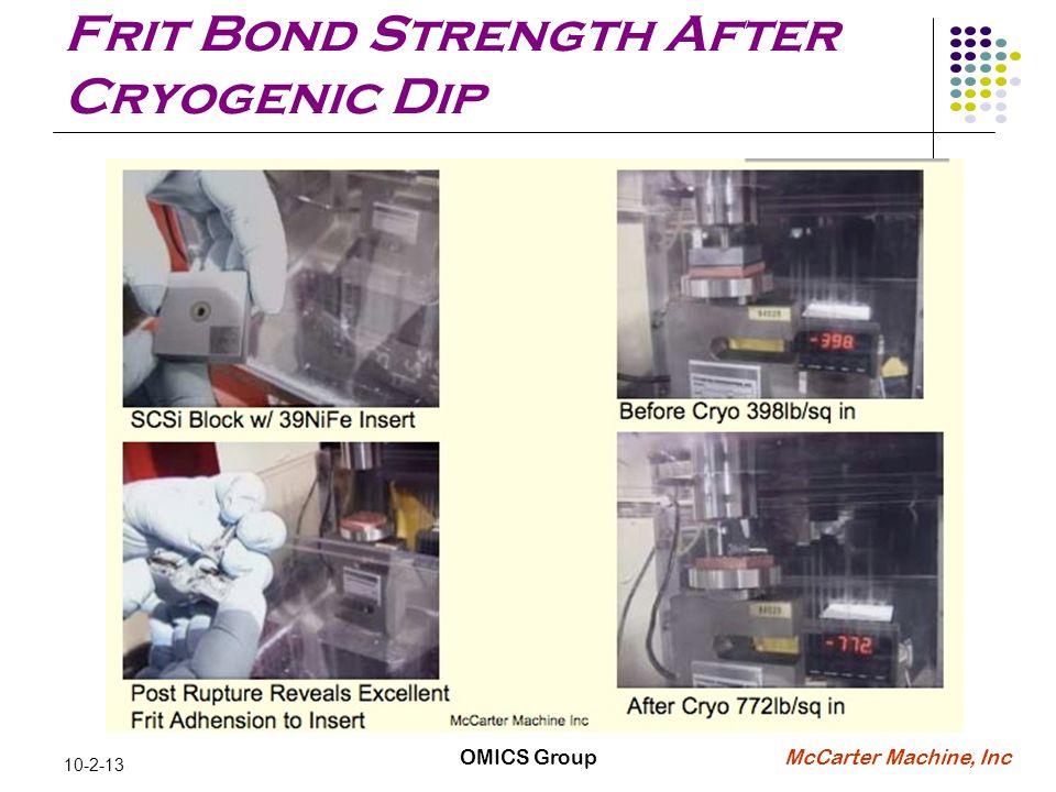McCarter Machine, Inc 10-2-13 Frit Bond Strength After Cryogenic Dip OMICS Group