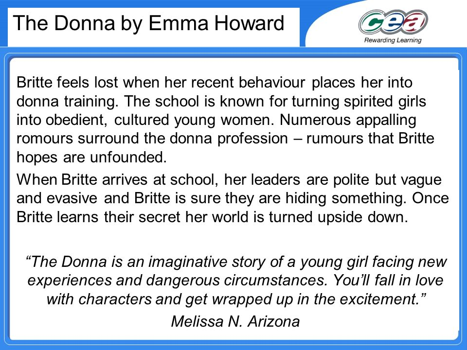 The Donna by Emma Howard Britte feels lost when her recent behaviour places her into donna training.
