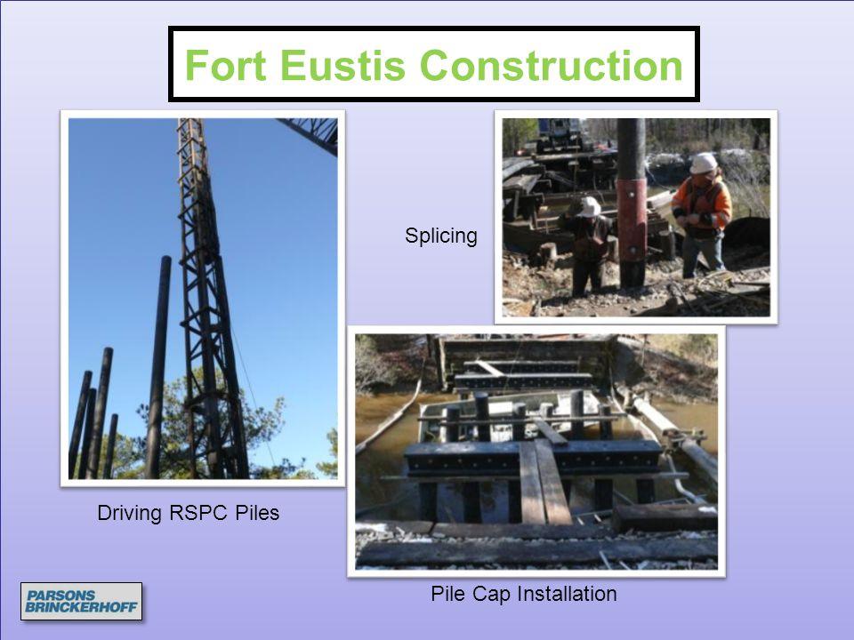 Driving RSPC Piles Splicing Pile Cap Installation Fort Eustis Construction