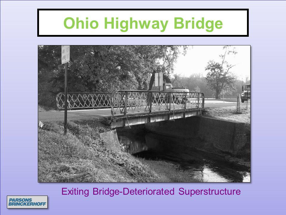 Ohio Highway Bridge Exiting Bridge-Deteriorated Superstructure