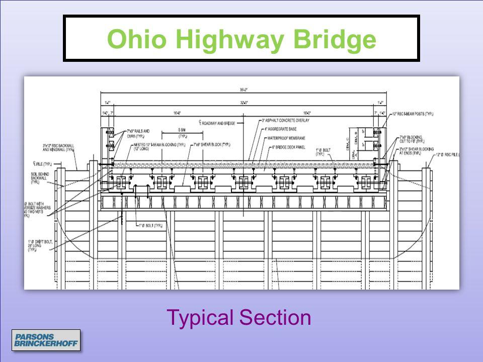 Ohio Highway Bridge Typical Section