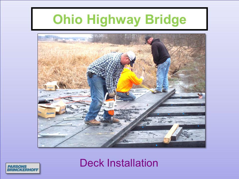 Ohio Highway Bridge Deck Installation