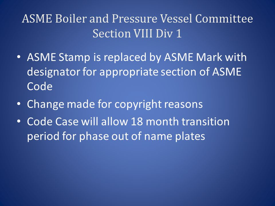 Example of New ASME Mark