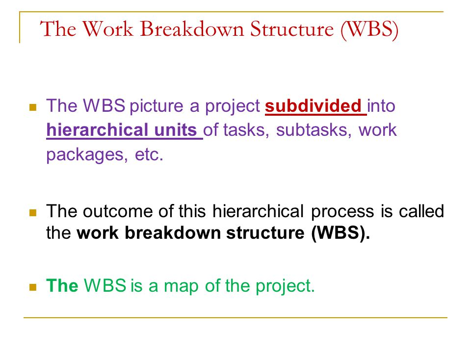 Integration of WBS and OBS