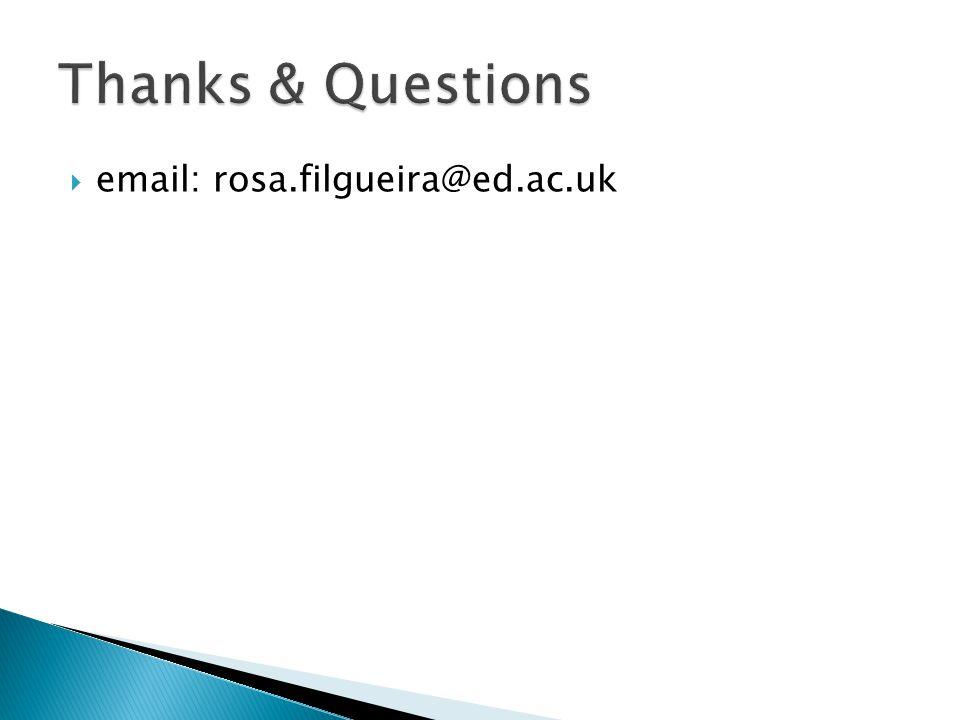  email: rosa.filgueira@ed.ac.uk
