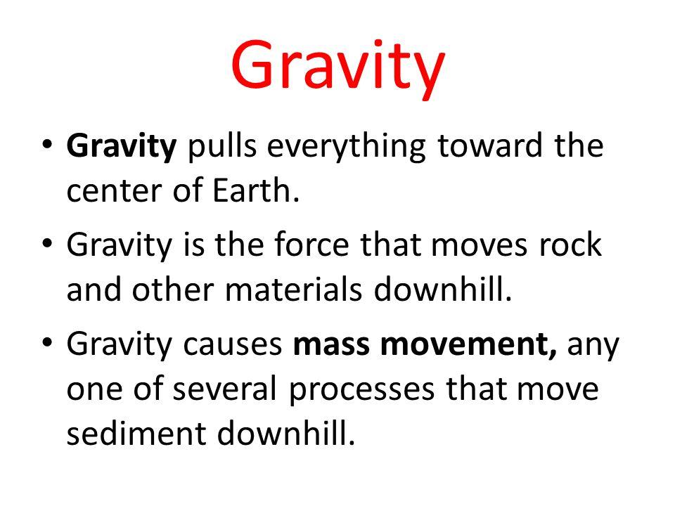 Example of Gravity Erosion