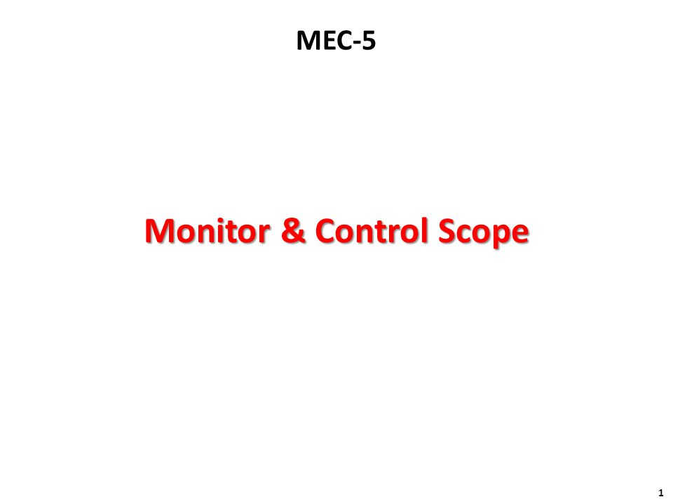 Monitor & Control Scope 1 MEC-5