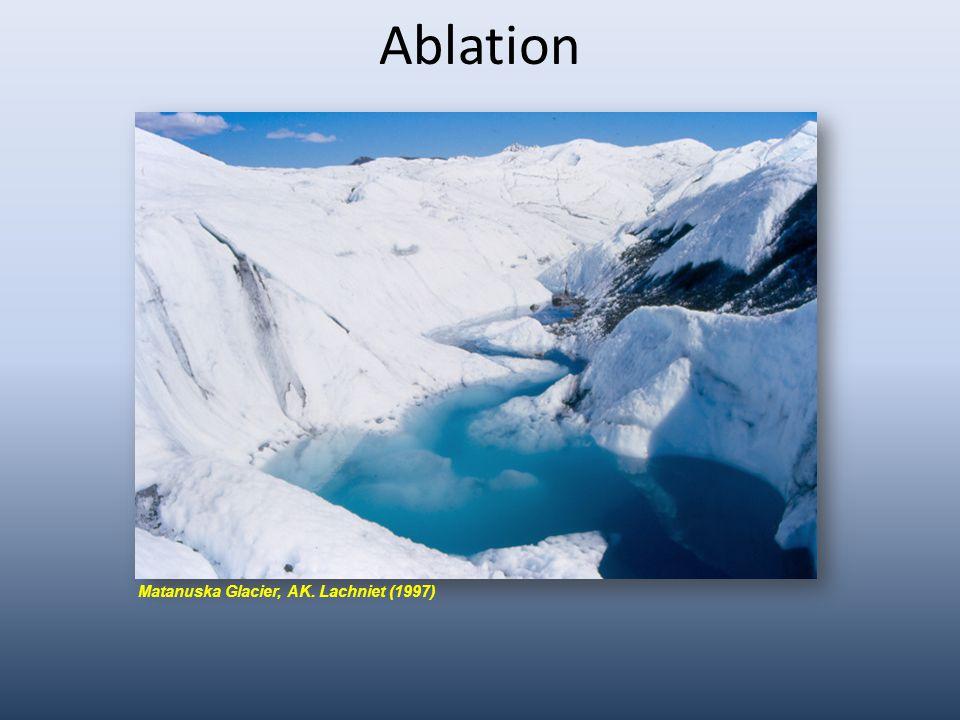 Ablation Matanuska Glacier, AK. Lachniet (1997)
